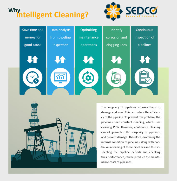 sedco+inline inspection+intelligent cleaning+smart cleaning+data logger